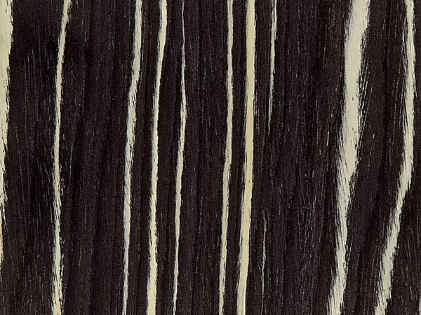 Feuille placage bois reconstitu sur stratifi alpikord macassar noir et blanc 305x130 - Feuille de placage ...